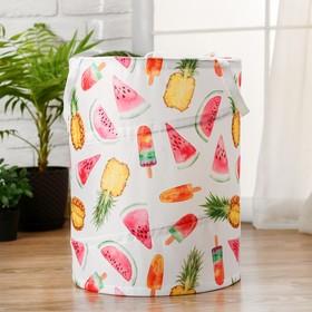 """Корзинка для игрушек """"Фрукты и ягоды"""" 35×35×45 см"""