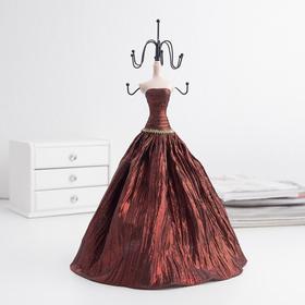 """Подставка для украшений """"Силуэт девушки в платье"""", цвет красный"""