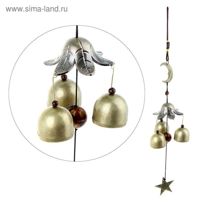 "Музыка ветра ""Месяц"" 3 колокола, 1 фигурка"