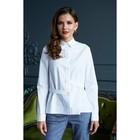 Рубашка женская, цвет белый, размер 56