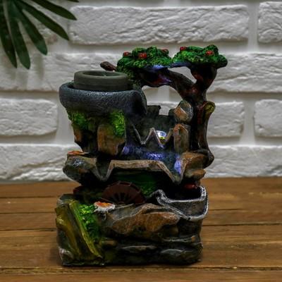 """Фонтан """"Водопад на камнях"""" 14*17*25 см (с подсветкой)"""