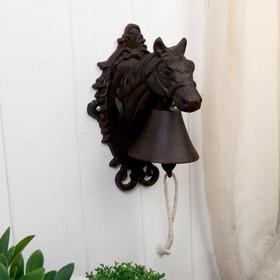 Bell souvenir metal Horse 25x15x15 cm