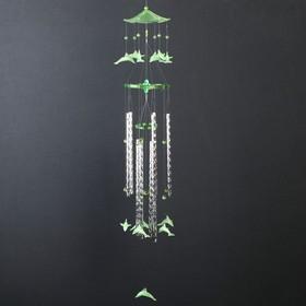 """Музыка ветра пластик """"Дельфины"""" 9 трубок 12 фигурок фосфорные 65 см"""