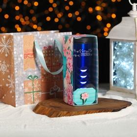 Новогодний подарочный набор «Самой нежной в Новый Год»: термокружка 550 мл, значок