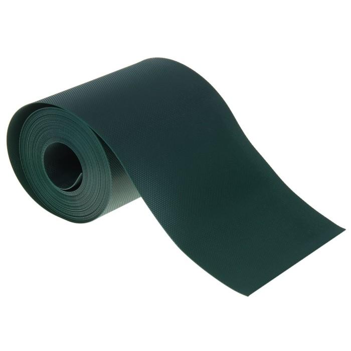 Лента бордюрная 0.1 х 30 м, толщина 1.2 мм, пластиковая, хаки