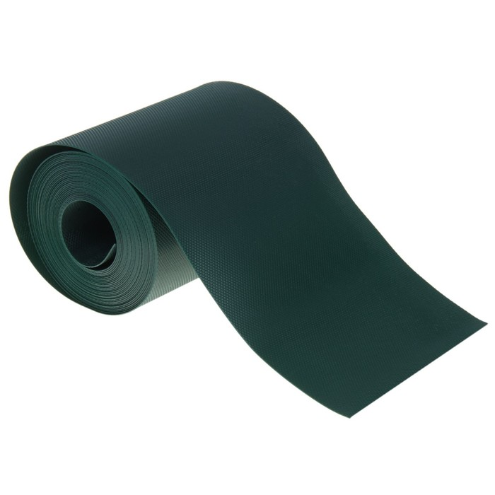 Лента бордюрная 0.3 х 10 м, толщина 1 мм, пластиковая, хаки