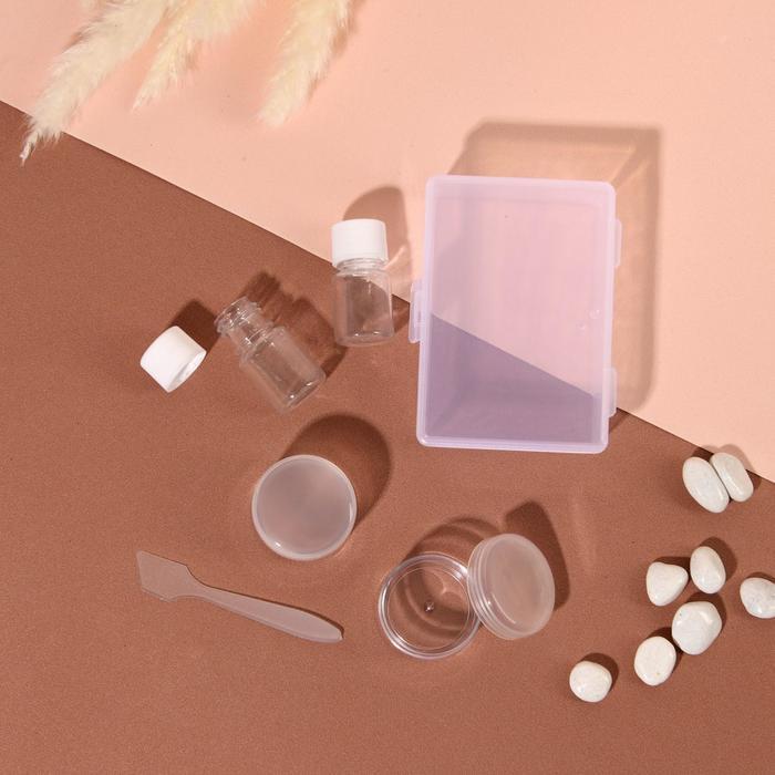Набор для хранения, в футляре, 5 предметов, цвет белый