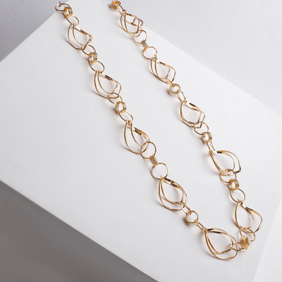 """Beads """"Chain"""" ellipses, color gold"""