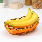"""A fruit basket and bread """"Garland"""" oval 24х16х6 cm, color Golden"""