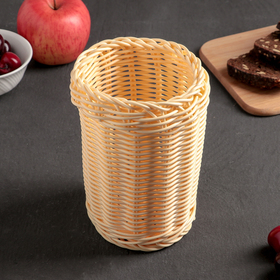 Корзинка для столовых приборов Доляна «Ваниль», 11,5×15,5 см
