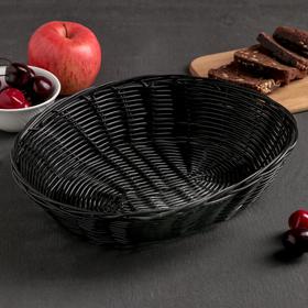 Корзинка для фруктов и хлеба Доляна «Плетёнка», 27×22×6 см в Донецке