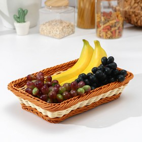 """A fruit basket and bread """"Milk chocolate"""" 30 * 19 on 5x6 cm"""