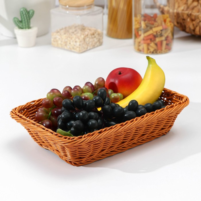 """A fruit basket and bread """"Cappuccino"""" 30 * 19 on 5x6 cm"""