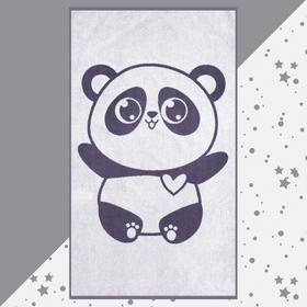 """Полотенце махровое """"Этель"""" Панда, 70х130 см, 100% хлопок, 420гр/м2"""