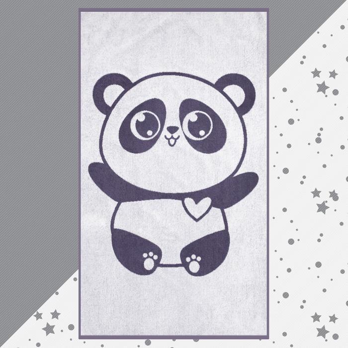 "Полотенце махровое Крошка Я ""Панда"" 70х130 см, 100% хлопок, 420гр/м2"