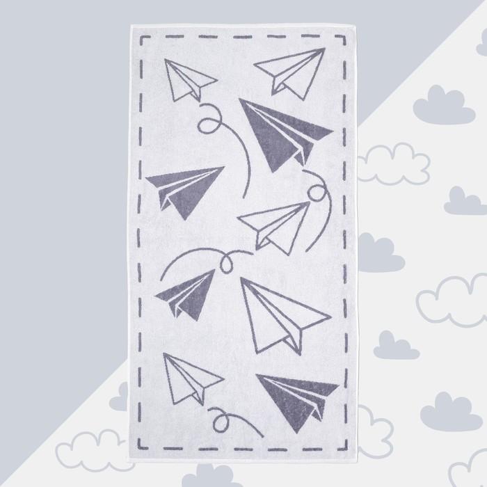 """Полотенце махровое """"Самолеты"""" 70х130 см, 100% хлопок, 420гр/м2"""