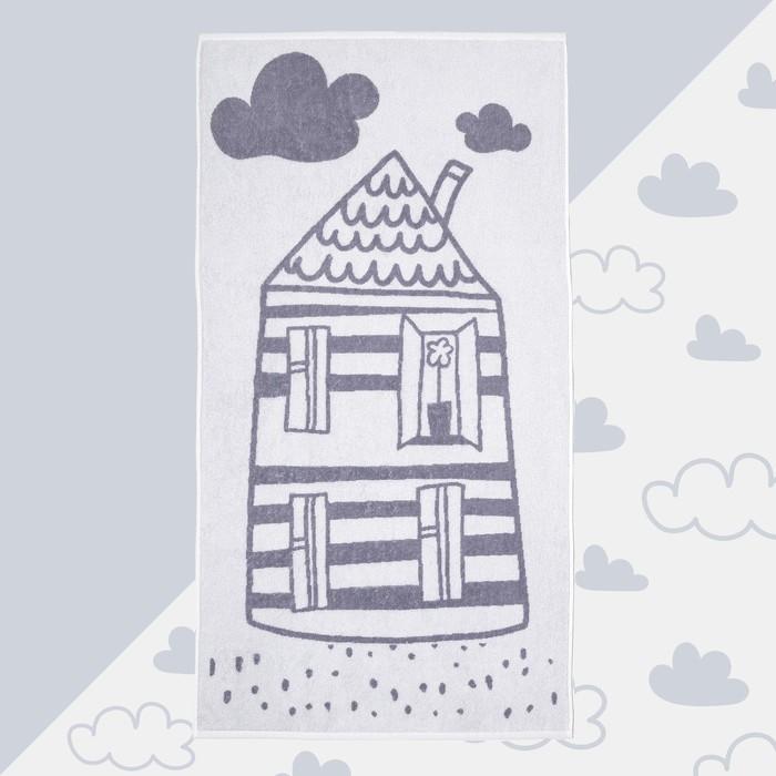 """Полотенце махровое """"Домик"""" 70х130 см, 100% хлопок, 420гр/м2"""