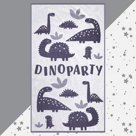 """Полотенце махровое """"Этель"""" Dinoparty, 70х130 см, 100% хлопок, 420гр/м2"""