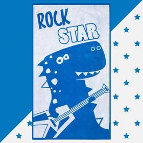 """Полотенце махровое """"Этель"""" Rock star, 70х130 см, 100% хлопок, 420гр/м2"""