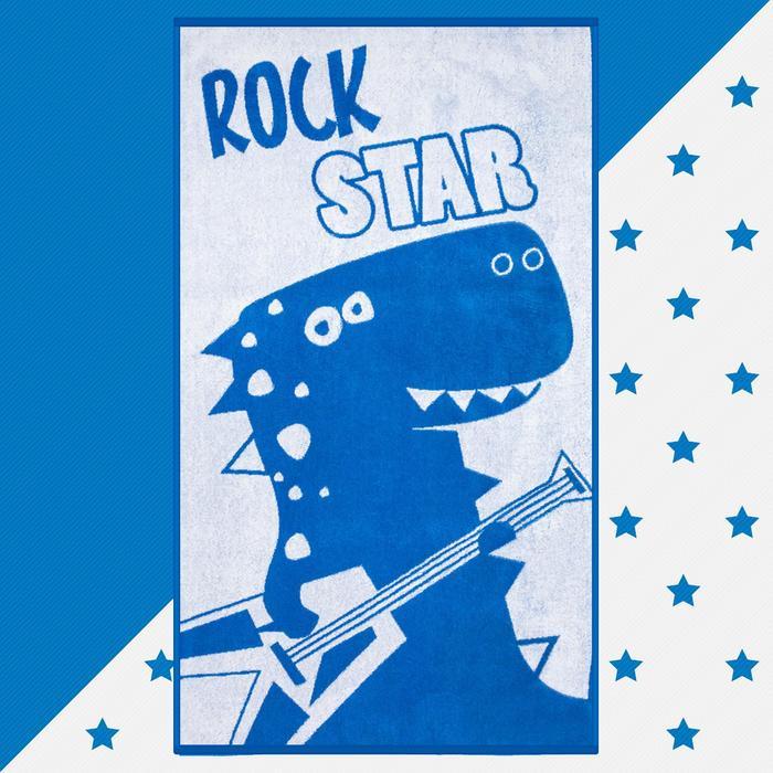 """Полотенце махровое """"Rock star"""" 70х130 см, 100% хлопок, 420гр/м2"""