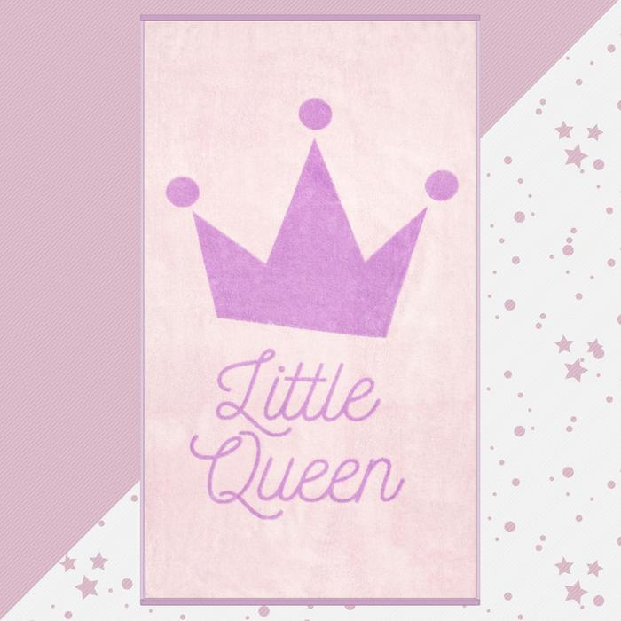 "Полотенце махровое ""Little queen"" 70х130 см, 100% хлопок, 420гр/м2"