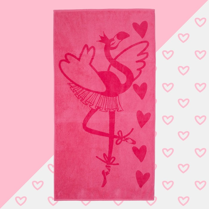 """Полотенце махровое """"Фламинго"""" 70х130 см, 100% хлопок, 420гр/м2"""