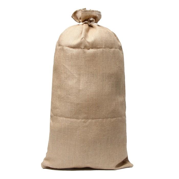 Мешок джутовый, 45 × 90 см, плотность 420 г/м² с завязками, особо прочный