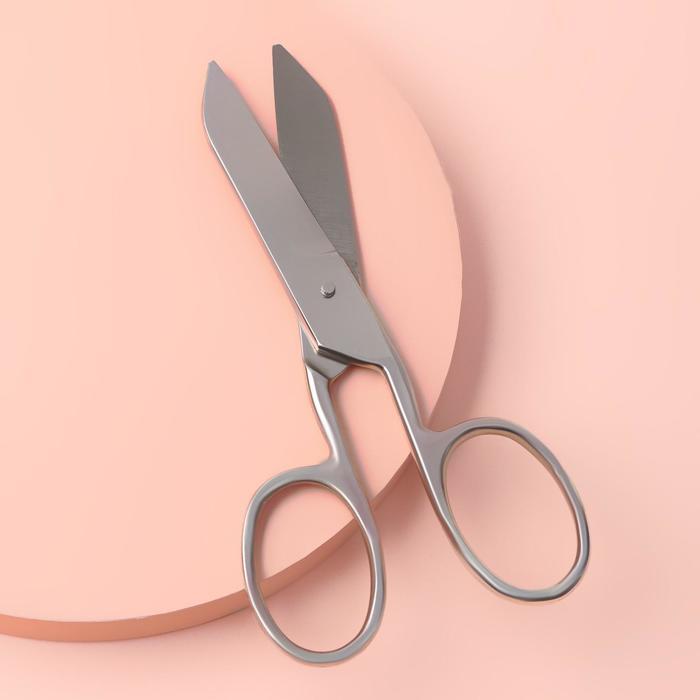 Ножницы портновские, одинаковые кольца, 23 см, цвет чёрный