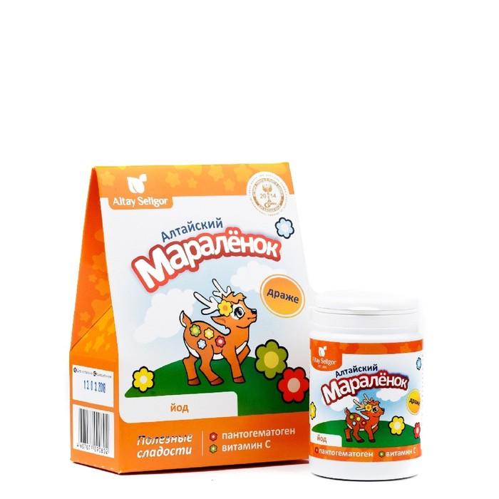 Драже «Алтайский маралёнок» для детей, с пантогематогеном, витамином С и йодом, 70 г