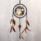 """Ловец снов """"Полярная сова"""" d=20 см"""