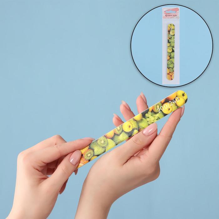 Пилка-наждак «Fruit», абразивность 200/240, 18 см
