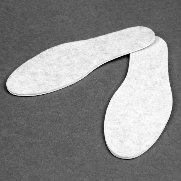 Стельки для обуви, универсальные, трёхслойные, 34-49 р-р, пара, цвет серый