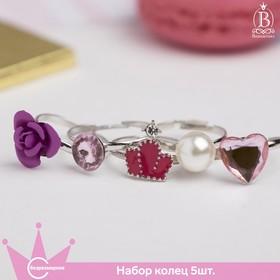 "A set of baby rings ""Vibracula"" Princess, shape MIX color"