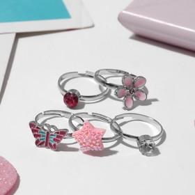 "A set of baby rings ""Vibracula"" summer shape MIX color"