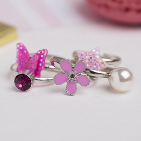 """A set of baby rings """"Vibracula"""" beauty, form, MIX, color pink"""