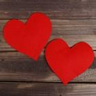 Основа для творчества и декорирования «Сердце»,набор 2 шт., цвет красный