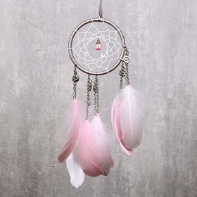"""Ловец снов """"Цветочки и шарик с бисером"""" d=11 см  30 см"""