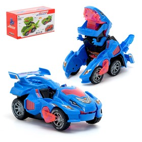 "Robot transformer the ""Dino-bot"", light and sound effects, runs on batteries, MIX"