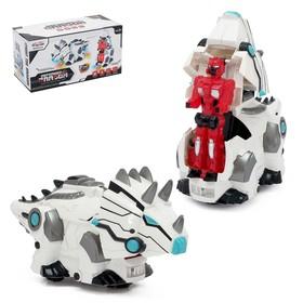 Робот-трансформер «Трицеработ», световые и звуковые эффекты, работает от батареек, МИКС