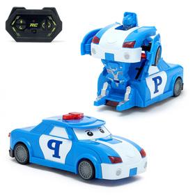 Робот-трансформер радиоуправляемый «Полицейский», работает от батареек