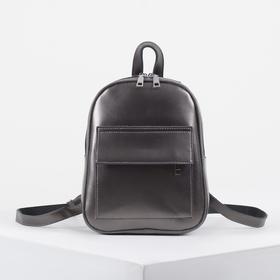 Рюкзак молодёжный, 2 отдела на молниях, 2 наружных кармана, цвет бронза