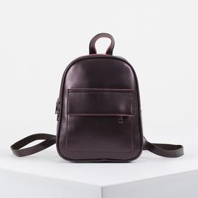 Рюкзак молодёжный, 2 отдела на молниях, 2 наружных кармана, цвет бордовый