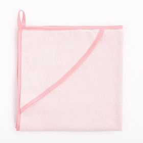 Пеленка-полотенце для купания розовый 100 х 75см махра 300г/м хл100%