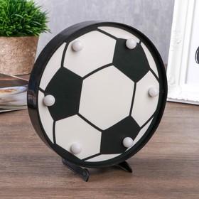 """Ночник """"Футбольный мяч"""" 6хLED батарейки 2хAA черный/белый МИКС 16х2,8х16 см."""
