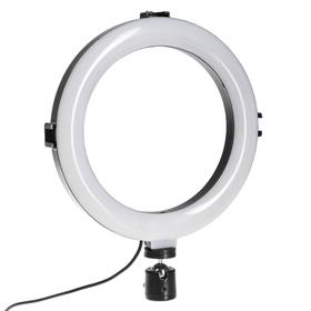Светодиодная кольцевая лампа SNP104, 8' (20 см), 10 Вт, 3 режима, работает от USB Ош