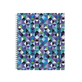Тетрадь А5+ на гребне, 80 листов в клетку ErichKrause Cubes, пластиковая обложка на резинке