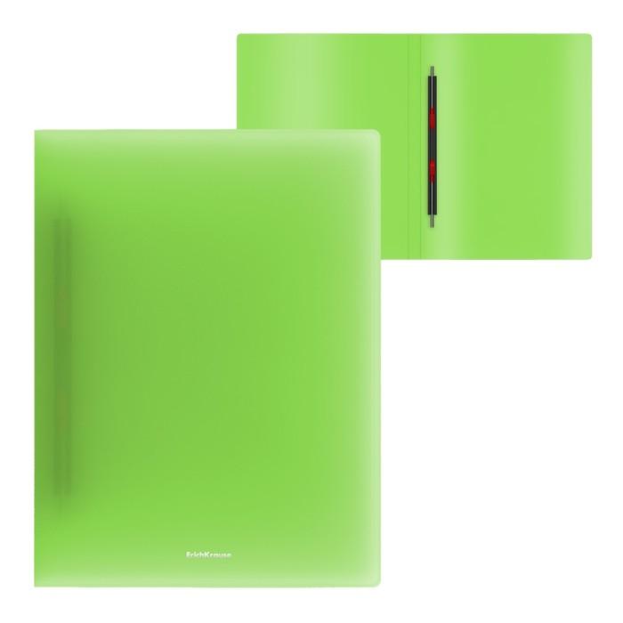 Папка-скоросшиватель с пружинным механизмом А4, Erich Krause Neon, зелёная
