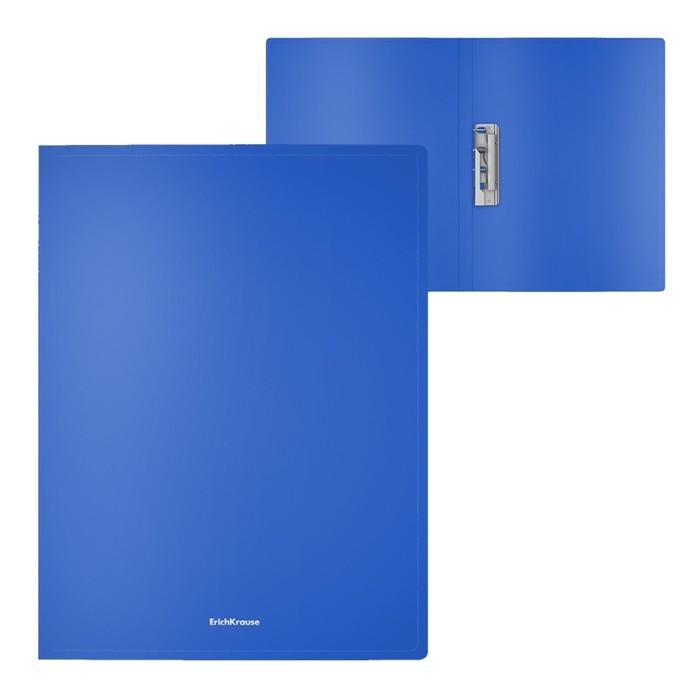Папка с зажимом А4, Erich Krause Classic, синяя