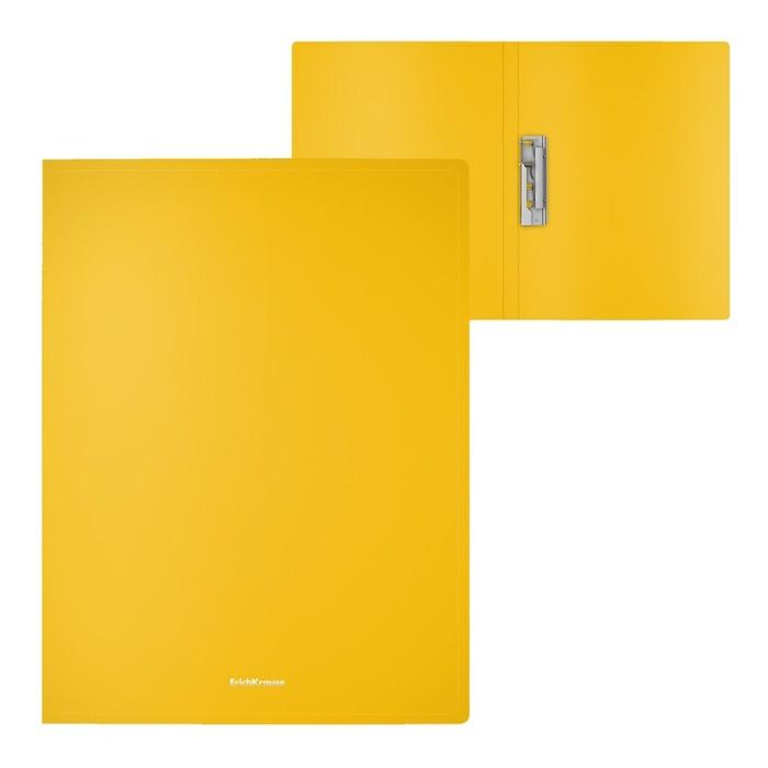 Папка с зажимом А4, Erich Krause Classic, жёлтая
