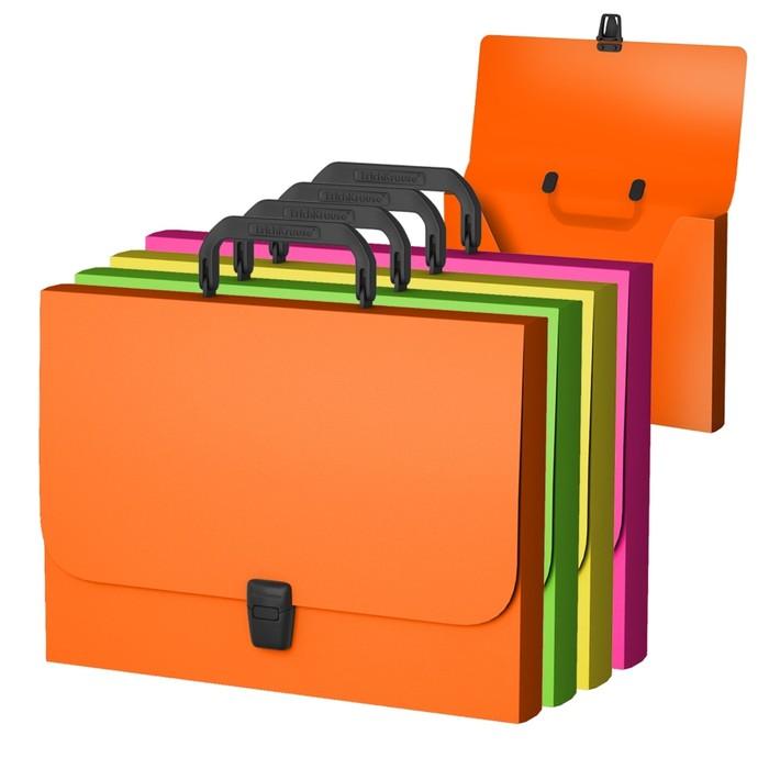 Папка-портфель А4, Erich Krause, Neon, ассорти, пластиковая
